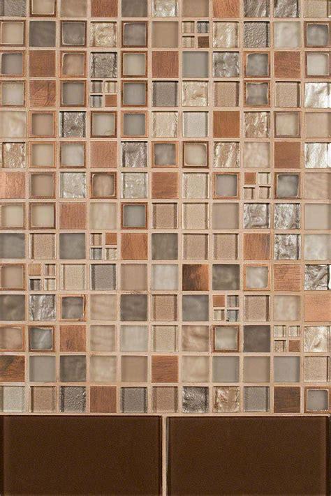 manhattan glass blend cinnamon glass backsplash tile msi