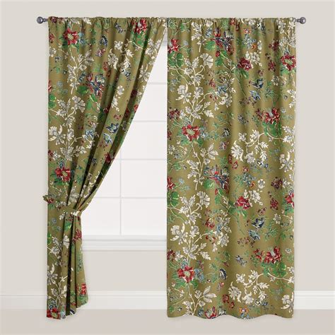 curtains world market floral bucolic tab top curtain world market