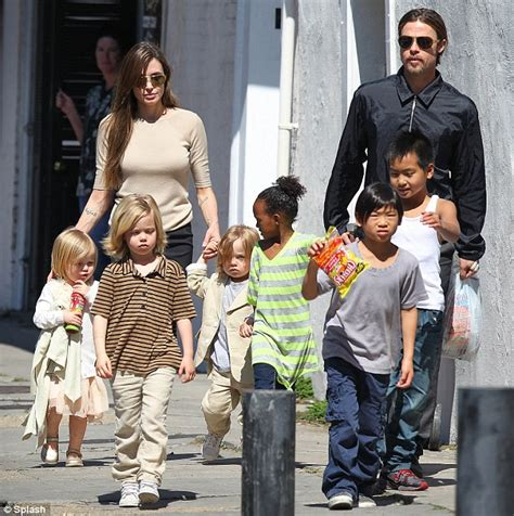 New Photo Of The Pitt Family by And Brad Pitt Take Their Brood Of Six For