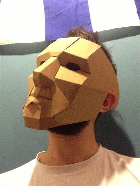 cardboard mask  behance papier mache pinterest