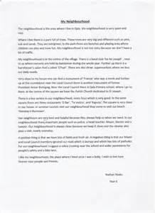 Neighbourhood Essay my neighbourhood essay written by nathan njoku year 6 19 12 14 171 qala primary