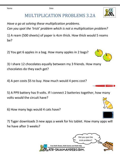 table for 3 multiplication word problem worksheets 3rd grade