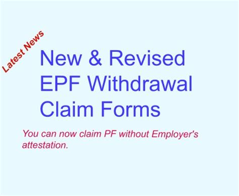Detox Without Consent by New Epf Withdrawal Forms Claim Without Employer S Sign