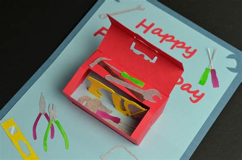 s day tool box card template toolbox pop up card template creative pop up cards