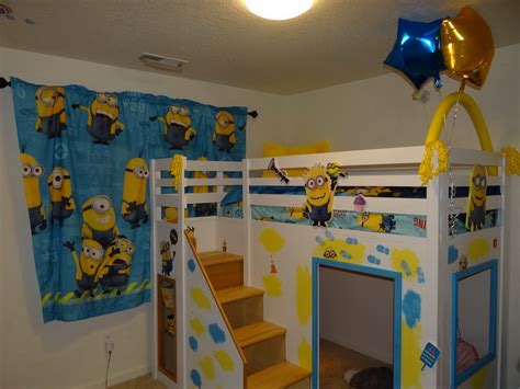 minion bedding ana white despicable me minion theme playhouse loft bed diy projects