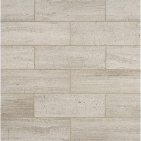 ms international white oak 4 in x 12 in honed marble