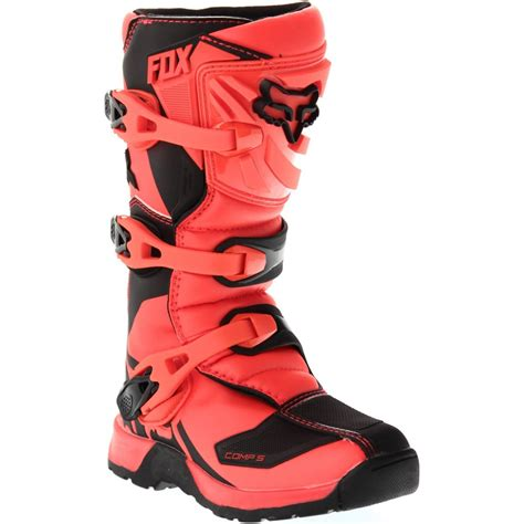 motocross boots fox fox comp 5 junior orange boots 183 motocard