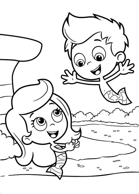 Bubble Guppies Coloring Pages Best Coloring Pages For Kids Guppies Coloring Pages