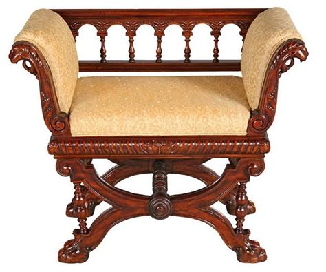 antique benches indoor antique replica handcarved solid mahogany double griffin