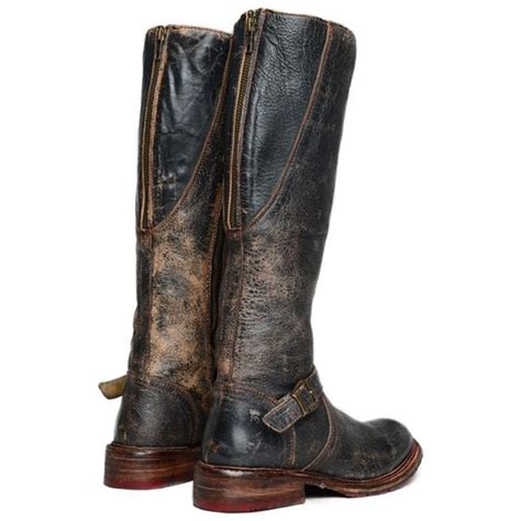 glaye distressed finish leather womens boot bed