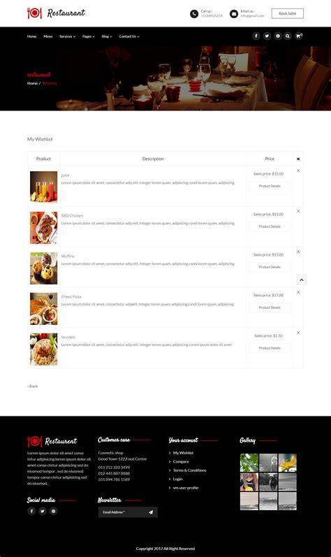 theme joomla restaurant restaurant responsive joomla template by dasinfomedia