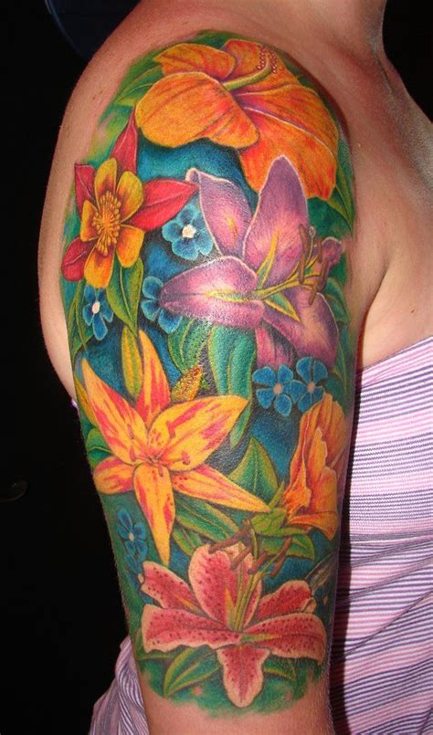 exotic flower tattoo designs tropical flower tropical flower tattoos designs and