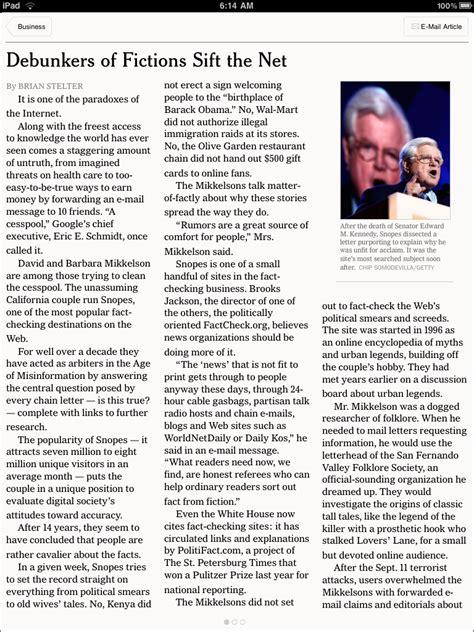Ipad Review New York Times Vs Wall Street Journal Columbia Journalism Review New York Times Newspaper Template Docs