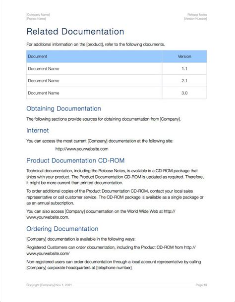 release notes template for software development release notes apple iwork pages numbers