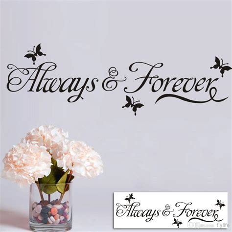 wall decal forever and always vinyl decal by villagevinepress always forever lettering wall decals art home decor black