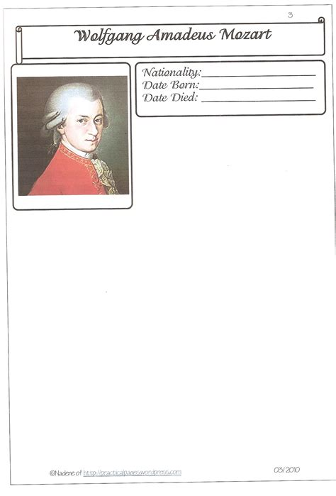 beethoven biography for elementary music appreciation practical pages