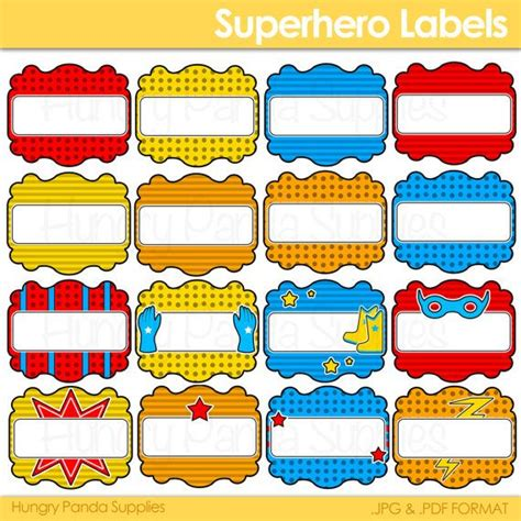 printable avengers labels 8 best images of super heroes printable party labels