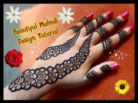 apply easy simple henna mehndi design  hands tutorial  eiddiwali  youtube