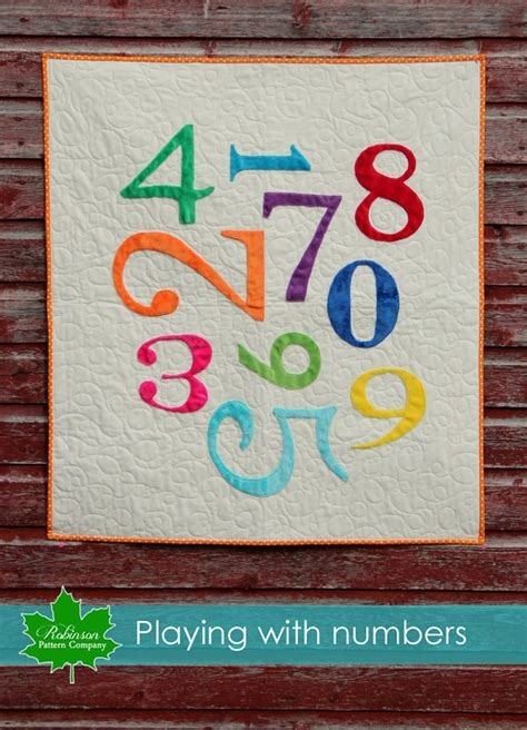 quilt pattern numbers playing with numbers baby quilt pattern printed pattern