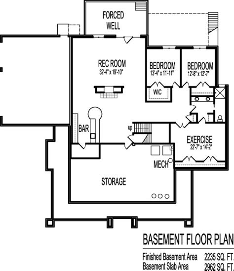 2 bedroom house plans with basement 2 bedroom single level house plans designs one floor with