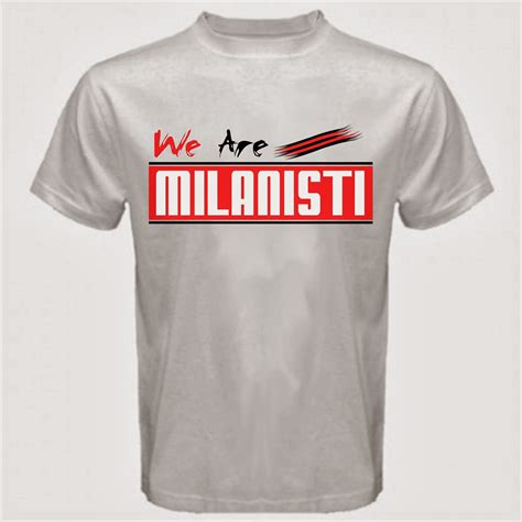 Kaos Milanisti Forza Milan curva sud ultrashop we are milanisti t shirt