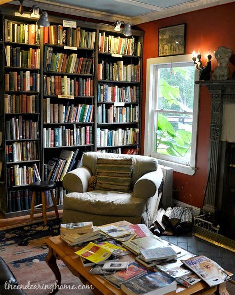 living in books living room reveal