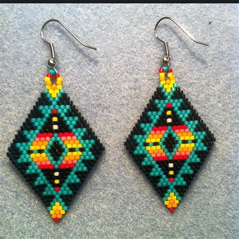 Beaded Earrings 17 best images about beaded earings on seed