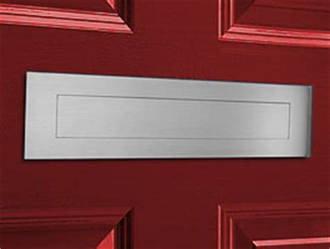 Mail Slots For Doors by European Home Satin Brushed Stainless Steel