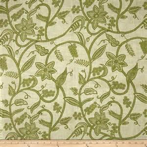 54 printed burlap vine olive discount designer fabric