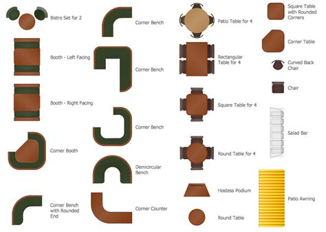 layout of elements cafe and restaurant floor plan solution conceptdraw com