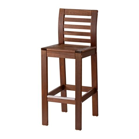 196 pplar 214 bar stool with backrest outdoor ikea