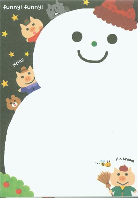 cute christmas memo pad fairy tale from japan memo pads