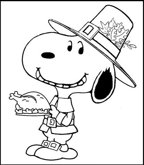 printable peanuts thanksgiving coloring pages snoopy thanksgiving coloring picture for kids snoopy