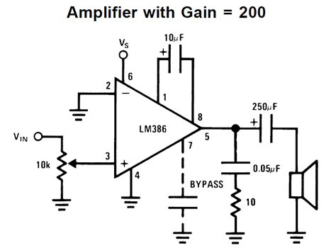 transistor or ic lifier ic lm386 datasheet explained in simple words circuit diagram centre