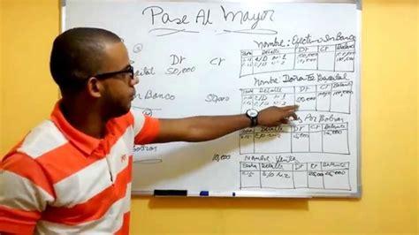 ejemplo libro diario contabilidad pase al mayor traspaso al libro mayor general youtube