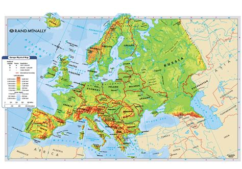 physical map europe physical map of europe roundtripticket me