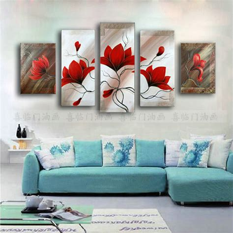 sofa painting aliexpress com buy modern flowers painting set