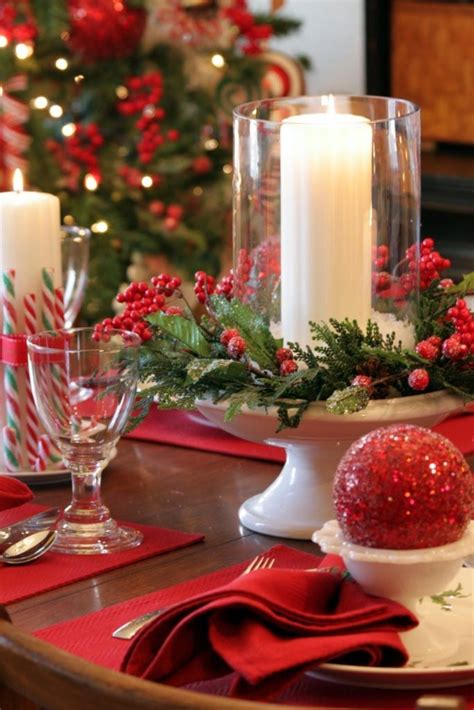 christmas centerpieces 35 christmas d 233 cor ideas in traditional red and green