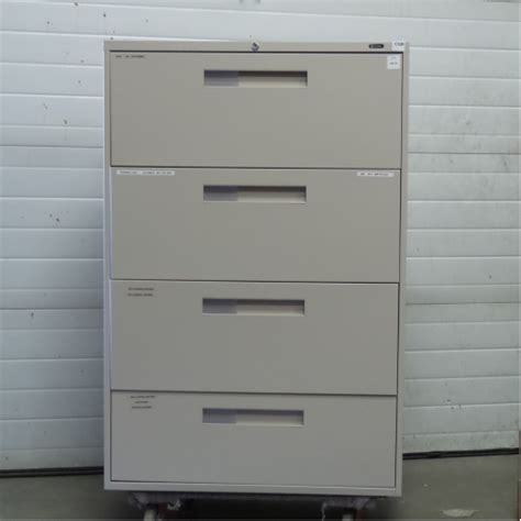 global grey 4 drawer lateral file cabinet locking