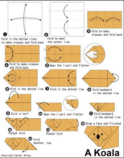 easy origami club http en origami club animal animal small koala