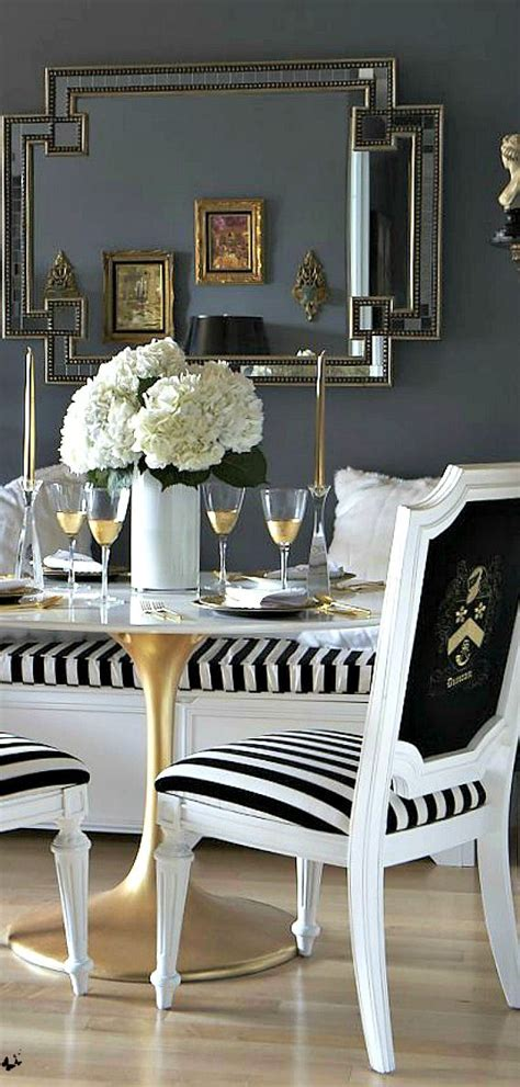 luxurious black and gold kitchen home decor inspiration