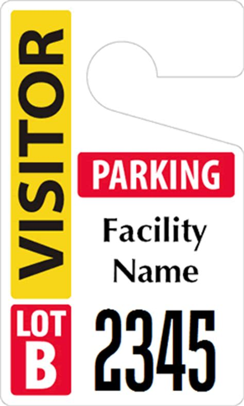 Visitor Parking Passes Guests Parking Passes Visitor Parking Pass Template