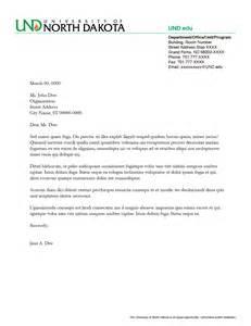letterhead identity und university of north dakota