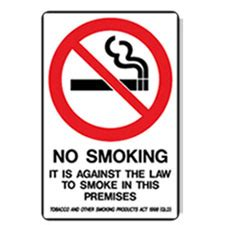 no smoking sign australia prohibition sign qld no smoking it is against the law