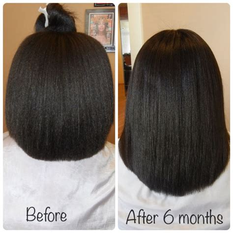 weave growth before after mskibibi s 6 months hair journey length check learn how