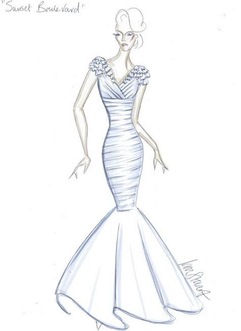 how to design a dress ian stuart design drawing for wedding dress sunset