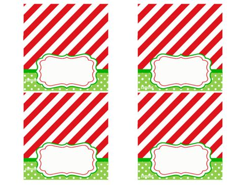 christmas party tent style place cards printable magic of