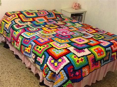 como tejer crochet para colcha en cuadros tejiendo crochet con minte colcha tejida con diferentes