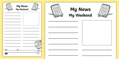 Pattern In Writing Sports News | my weekend newspaper writing template mt weekend