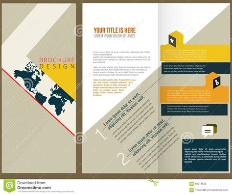 layout design of company vector brochure layout design stock vector image 60018633